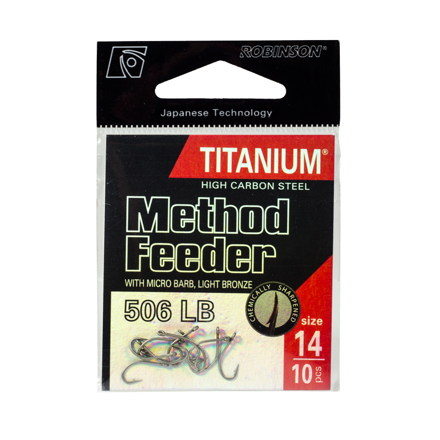 Háčik Titanium Method Feeder, veľ. 10 (10 ks)